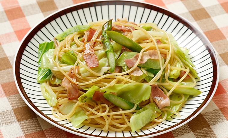 春野菜のアマニドレスパゲッティ