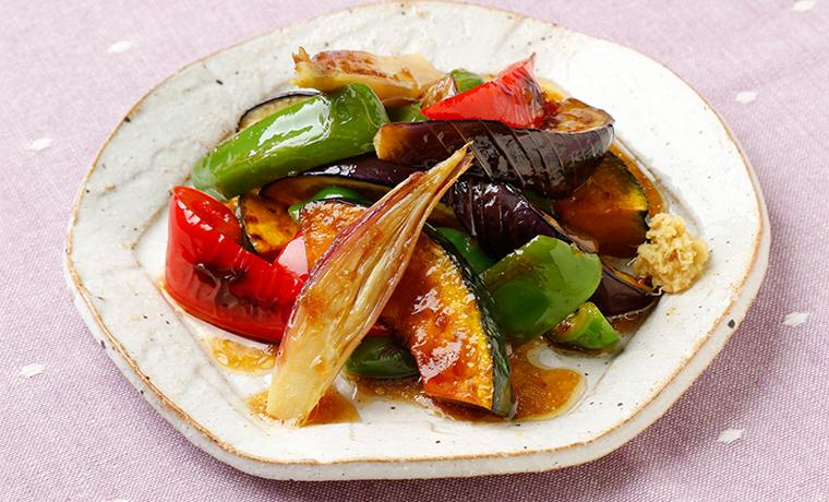 焼き野菜のアマニドレ浸し